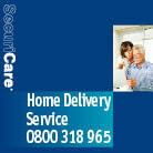 Front cover for 'Home Delivery Service' information booklet