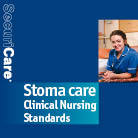 Front cover for 'Stoma care: Clinical Nursing Standards' information booklet