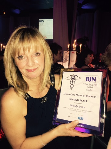 Picture of Wendy Smith, Stoma Care Nurse of the Year 2016 finalist