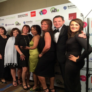 Some of the SecuriCare Customer Services and Careline Teams attending the UK Customer Satisfaction Awards 2016