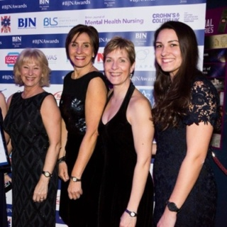 The Leicester Team of Specialist Stoma Care nurses attending the British Journal of nursing awards 2